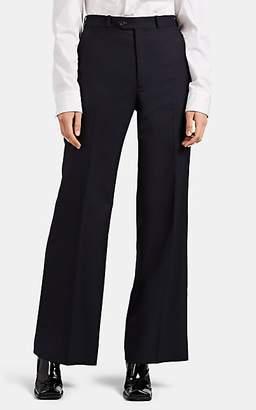 Maison Margiela Women's Flannel Straight-Leg Trousers - Navy