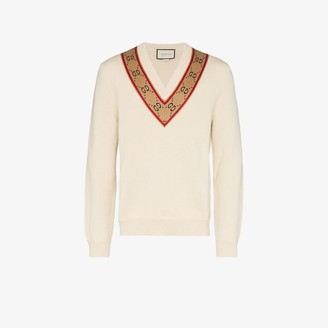 Gucci GG V-Neck Wool Sweater