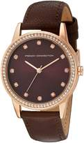 French Connection Women's FC1251TA Liberty Analog Display Quartz Brown Watch