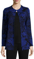 Misook Long-Sleeve Floral-Print Jacket, Plus Size