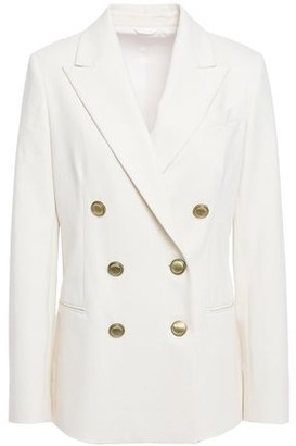 Brunello Cucinelli Double-breasted Bead-embellished Cotton-jersey Blazer