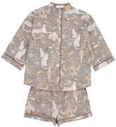 Short Safari Pyjamas in Rhino Grey
