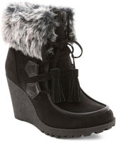 UNIONBAY Union Bay Peg Faux-Fur-Collar Booties