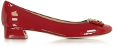 Tory Burch Gigi Red Patent Leather Mid-heel Pump