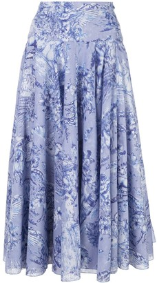 Samantha Sung printed A-line skirt