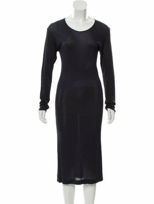 Hermes Long Sleeve Midi Dress