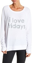 Peace Love World Crew Neck I Love Fridays Knit Top