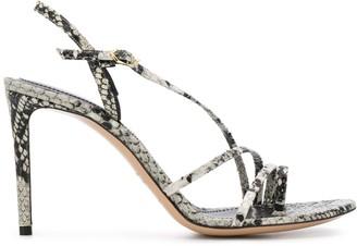 Nicholas Kirkwood Elements snakeskin-effect sandals