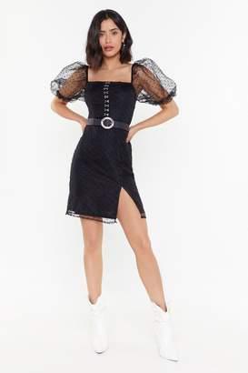 Nasty Gal Womens The Power of Puff Eyelet Mini Dress - black - 10