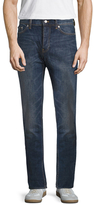 BLK DNM Fading and Whiskering Straight Jeans