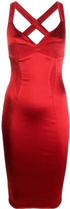 Murmur Satin Fitted Dress
