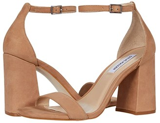 Steve Madden Dillion Heeled Sandal (Tan Nubuck) Women's Shoes