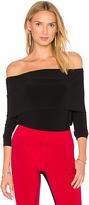 Norma Kamali Cowl Neck Top in Black