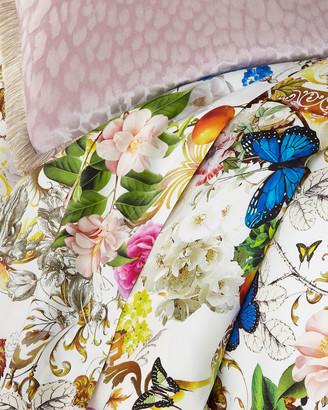 Roberto Cavalli Blaze 300 Thread-Count Flat Sheet, Queen