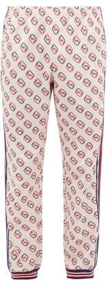 Gucci Gg Logo-print Track Pants - Mens - White Multi