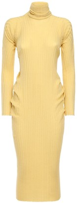 Bottega Veneta Wool Rib Knit Sweater Dress