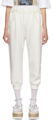 Simone Rocha White Frill Pocket Lounge Pants