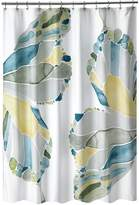 Popular Bath Products Shell Rummel Butterfly Shower Curtain