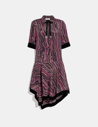 Coach Shirt Dress With Kaffe Fassett Print