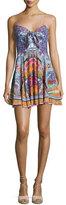 Camilla Embellished Tie-Front Sleeveless Mini Dress, Sunday Best