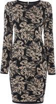Karen Millen Floral Knit Dress - Black/multi