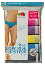 Fruit of the Loom Women's Hipsters 6-Pack