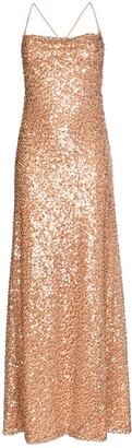 Galvan Whiteley sequin embellished gown