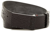 HUGO BOSS Guaro Snake Embossed Leather Belt