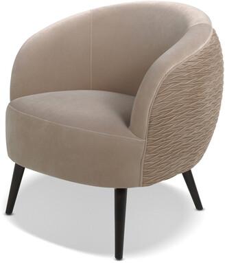 Jennifer Taylor London Mid-Century Modern Ruched Barrel Chair
