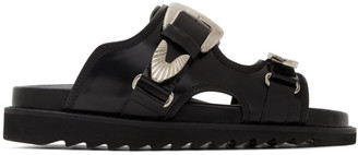 Toga Virilis Black Polido Sandals