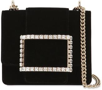 Roger Vivier Tres Vivier Duo Embellished Velvet Bag