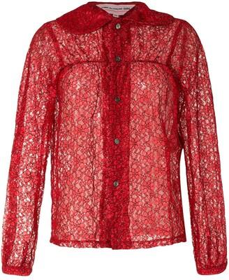 COMME DES GARÇONS GIRL Lace Button Shirt