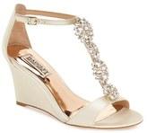 Badgley Mischka Women's 'Lovely' Embellished Wedge Sandal