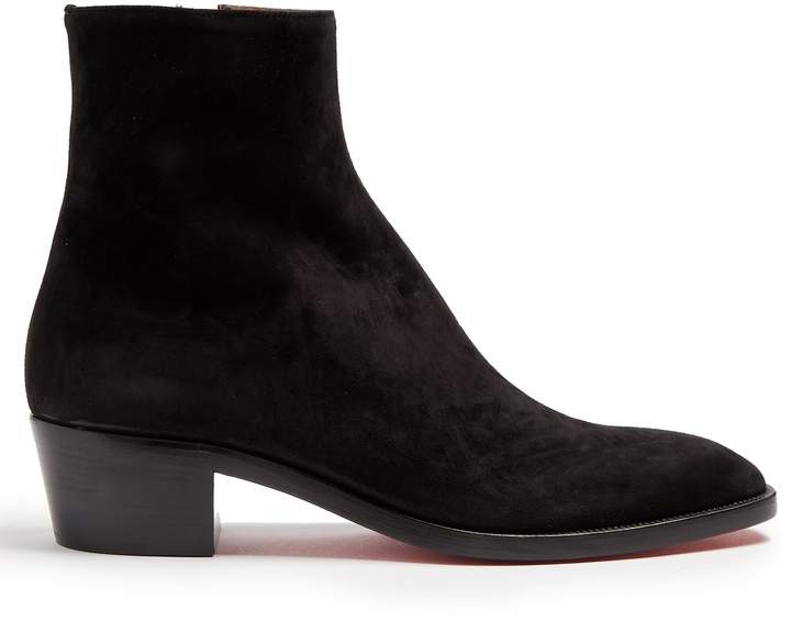 Christian Louboutin Huston suede ankle boots