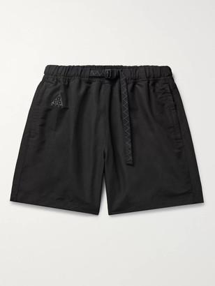 Nike Acg Wide-Leg Logo-Embroidered Belted Nylon Shorts