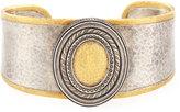 Gurhan Tricolor Oval Station Cuff Bracelet