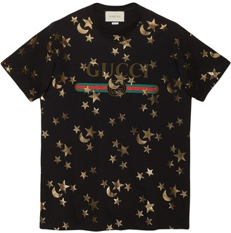 Gucci T-shirt with stars and moon print