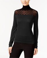 August Silk Illusion Contrast Turtleneck