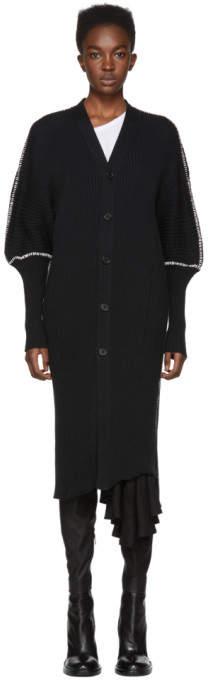 Ann Demeulemeester Black Tuareg Stitches Cardigan