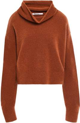 Alexander Wang Cropped Wool-blend Turtleneck Sweater
