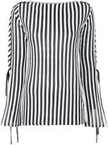 G.V.G.V. lace sleeve striped top