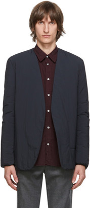 Maison Margiela Black Garment-Dyed Collarless Blazer
