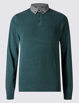 M&S Collection Pure Cotton Textured Jumper