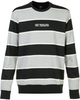 Obey striped logo sweatshirt - men - Cotton/Polyester - L