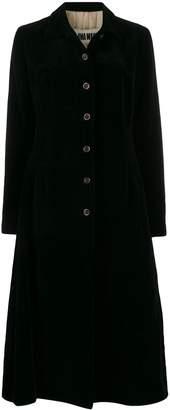 UMA WANG single breasted flared coat