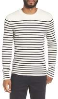 Vince Men's Slim Fit Breton Stripe Cashmere Crewneck Sweater