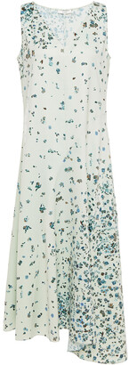 Vince Floral-print Hammered-satin Midi Dress