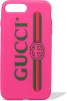 Gucci Silicone Iphone 7 And 8 Plus Case - Pink
