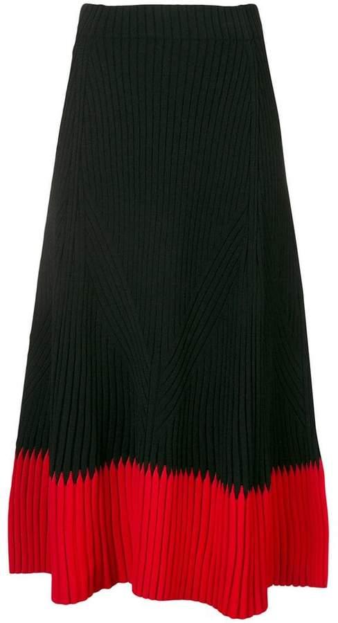 Alexander McQueen knitted A-line skirt