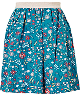 John Lewis Girls' Scattered Floral Skirt, Blue
